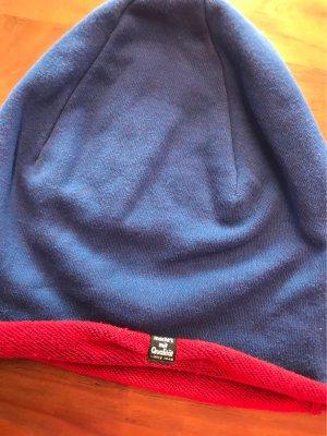 Puma Cappello a maglia blu acciaio-carminio