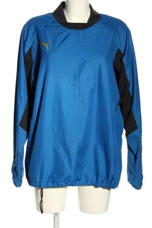 Puma Sportshirt blau-schwarz Motivdruck Casual-Look