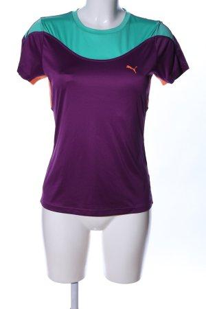 Puma Sportshirt turkoois-lila casual uitstraling