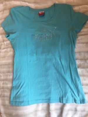 Puma Sportshirt lichtblauw