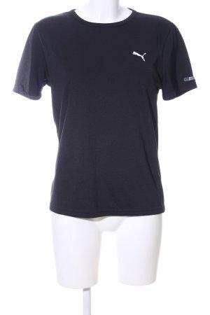 Puma Sportshirt zwart prints met een thema casual uitstraling