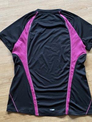 Puma Maglietta sport nero-rosa