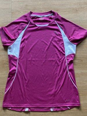 Puma T-shirt de sport blanc-rose