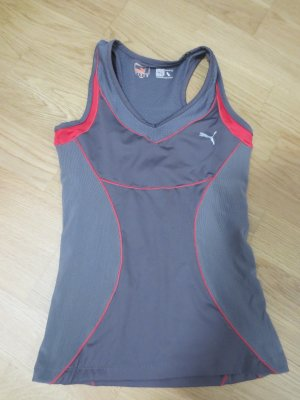 Puma Sportshirt, Gr. 36, ärmellos, grau-pink