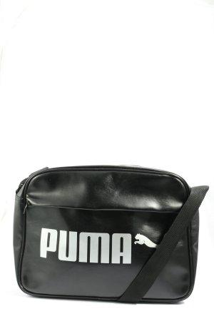 Puma Sac de sport noir-blanc imprimé avec thème style décontracté
