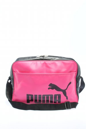 Puma Sporttasche schwarz-pink Motivdruck Casual-Look