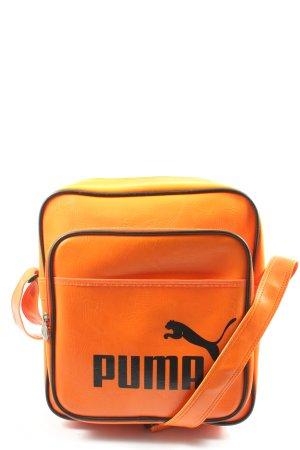 Puma Sac de sport orange clair-noir style décontracté