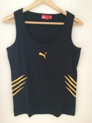 Puma Sportshirt zwart-geel