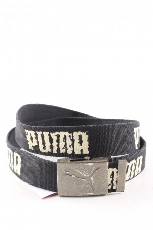 Puma Fabric Belt black-natural white printed lettering casual look