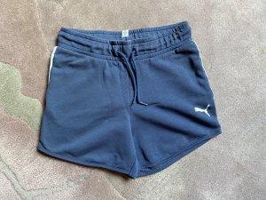 Puma Short de sport bleu acier