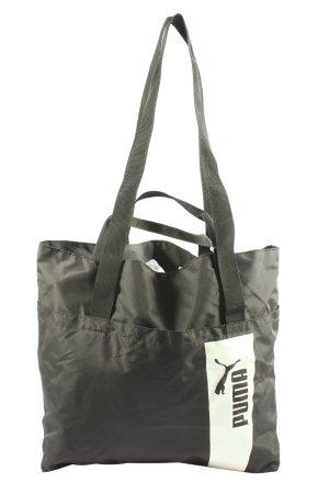 Puma Stoffen tas lichtgrijs-wit prints met een thema casual uitstraling