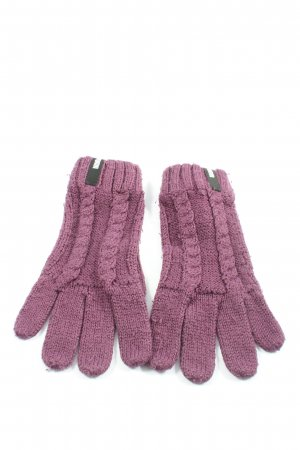 Puma Knitted Gloves lilac cable stitch casual look