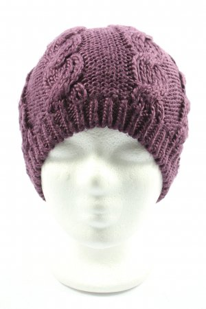 Puma Knitted Hat pink cable stitch casual look