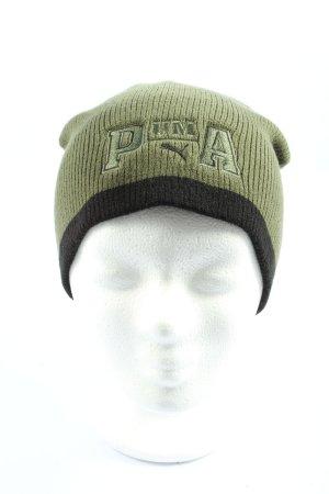 Puma Cappello a maglia cachi-nero stile casual