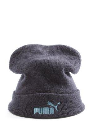 Puma Strickmütze schwarz-türkis Casual-Look