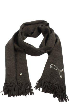 Puma Écharpe en tricot noir style décontracté