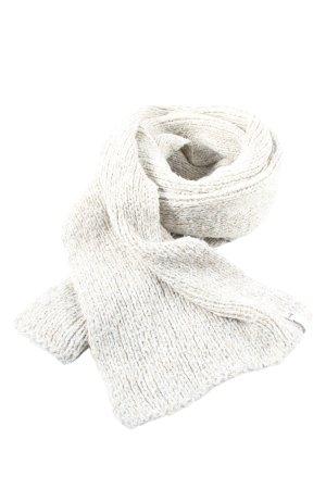 Puma Écharpe en tricot gris clair torsades style décontracté