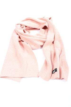 Puma Bufanda de punto rosa-negro look casual