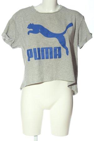 Puma Koszulka z dzianiny jasnoszary-niebieski Melanżowy W stylu casual