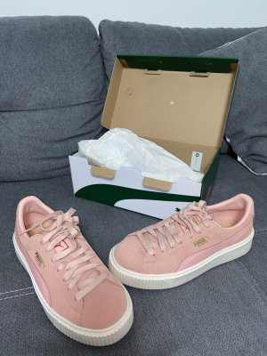 Puma Lace-Up Sneaker white-pink
