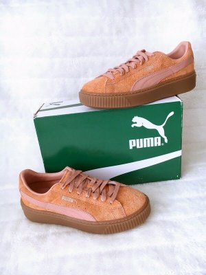 Puma *Suede Platform Elemental Cameo Brown-Rose Gold* Sneaker Pleateau Velours - Größe 39