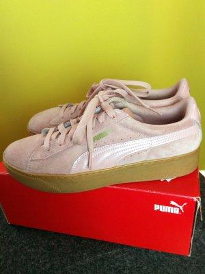 PUMA SUEDE Platform Plateau Sneaker Softfoam, echt Nubuk Leder, wie neu, Gr.40