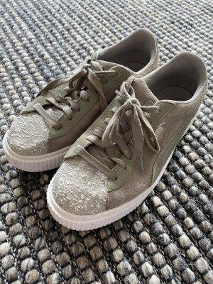 Puma Lace-Up Sneaker green grey-khaki