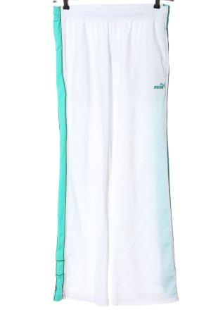 Puma Pantalon de jogging blanc-turquoise style décontracté