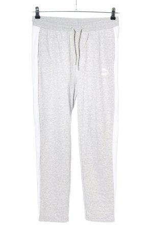 Puma Pantalon de jogging gris clair moucheté style décontracté
