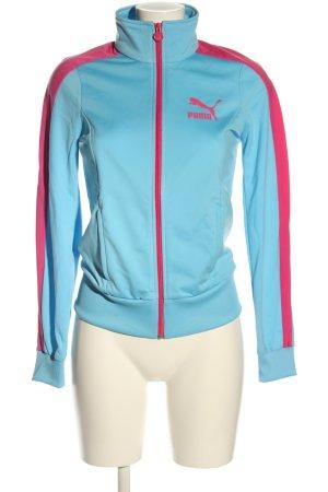 Puma Sweatjacke blau-pink Casual-Look