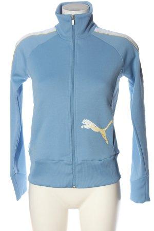 Puma Veste sweat bleu imprimé avec thème style athlétique