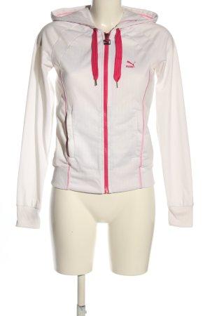 Puma Kurtka dresowa biały-różowy W stylu casual