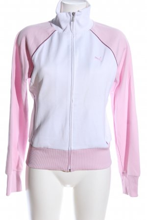 Puma Sweatjacke weiß-pink Casual-Look