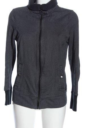 Puma Sweatjacke schwarz-weiß Allover-Druck Casual-Look