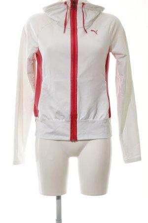 Puma Sweatjacke weiß-rot Motivdruck Casual-Look