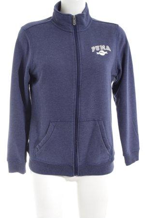 Puma Sweatjacke blau-weiß meliert sportlicher Stil