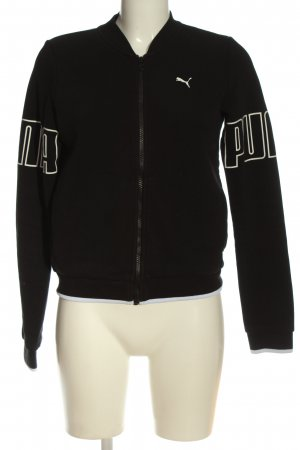Puma Sweat Jacket black-white printed lettering casual look