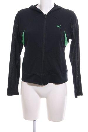 Puma Sweatjacke schwarz-grün sportlicher Stil