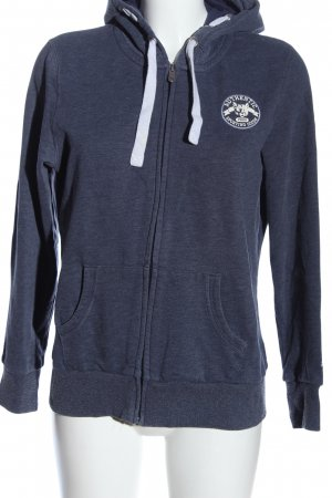 Puma Sweatjacke blau-weiß Motivdruck sportlicher Stil