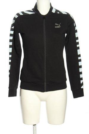 Puma Sweatjacke schwarz-weiß Streifenmuster sportlicher Stil