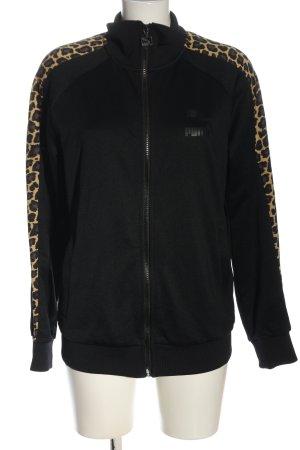 Puma Sweat Jacket black animal pattern athletic style