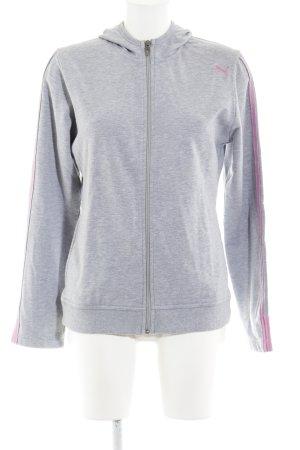 Puma Sweatjacke grau-pink sportlicher Stil