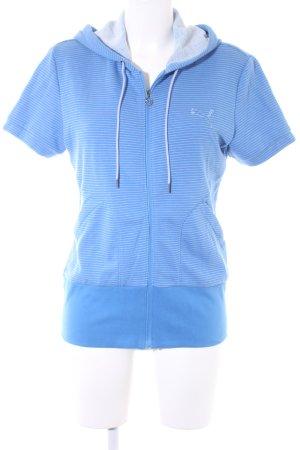 Puma Sweatjacke kornblumenblau-hellgrau Streifenmuster schlichter Stil