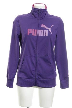 Puma Sweatjacke lila sportlicher Stil