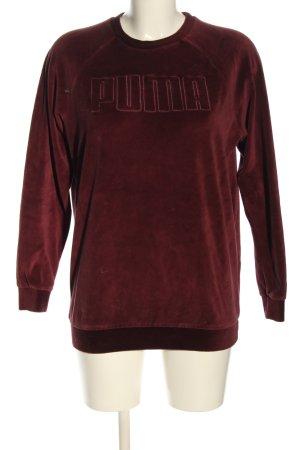 Puma Sweatshirt rot Schriftzug gedruckt Casual-Look