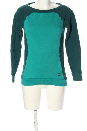 Puma Sweatshirt türkis-grün Casual-Look