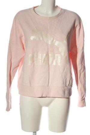 Puma Sweat Shirt pink-natural white themed print casual look