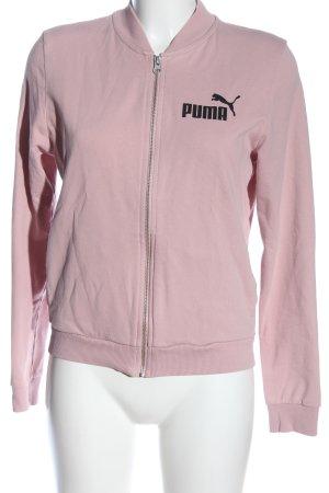 Puma Sweatshirt pink Schriftzug gedruckt Casual-Look