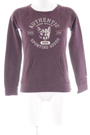 Puma Sweatshirt braunrot Motivdruck sportlicher Stil