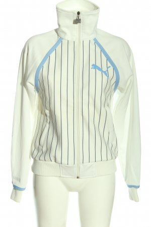Puma Sweatshirt weiß-blau Streifenmuster Casual-Look
